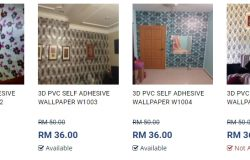 Gambar pelekat sticker wallpaper dinding untuk anda jual melalui dropship Kumoten