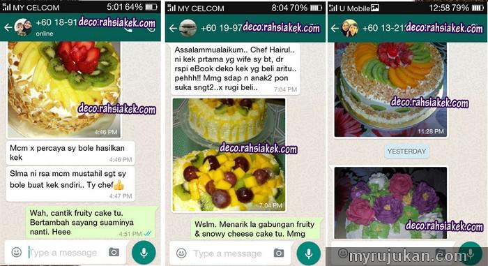 Testimoni berjaya hasilkan kek happy birthday dari rumah