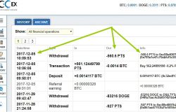 Transfer PitisCoin (wirthdraw) keluar sejak 5 December 2017