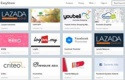 Beberapa contoh fungsi asas pakej easystore yang membolehkan anda menjual di pelbagai platform
