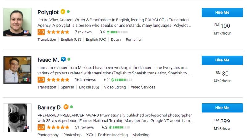 Contoh peluang kerja di rumah secara online sebagai penterjemah bahasa