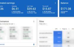 Contoh pendapatan melalui iklan dari Google Adsense