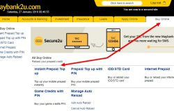 Panduan topup kredit simkad prepaid di Maybank2u