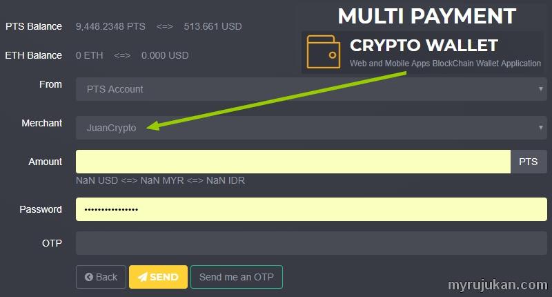 Panduan untuk create akaun merchant untuk menerima token dari PitisCoin