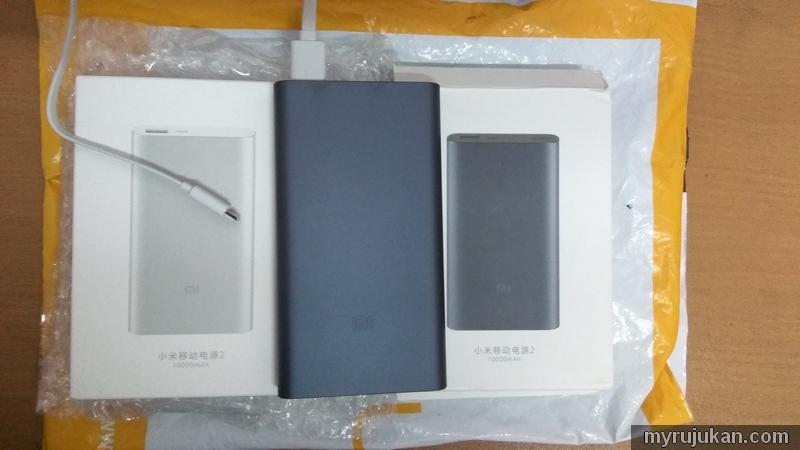 Powerbank jenama Xiaomi yang saya beli melalui web Ezbuy
