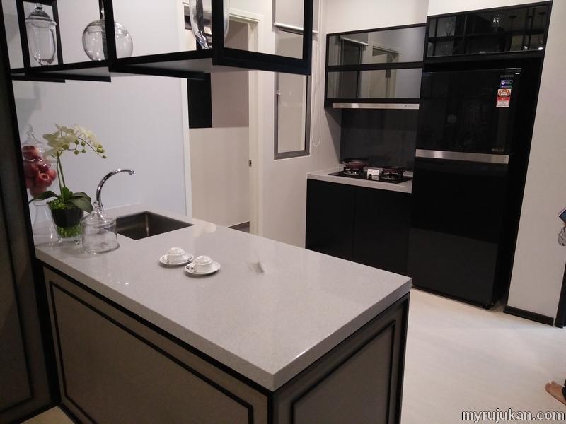 contoh rumah pr1ma permatang pauh bahagian sinki dan dapur