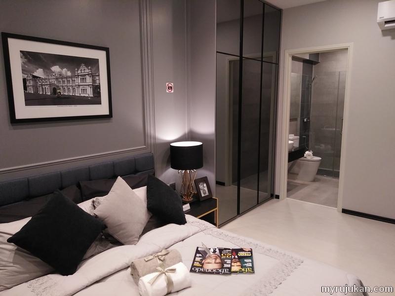 contoh rumah prima penang bilik master bedroom
