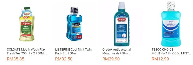 Contoh produk pencuci mulut yang boleh anda gunakan