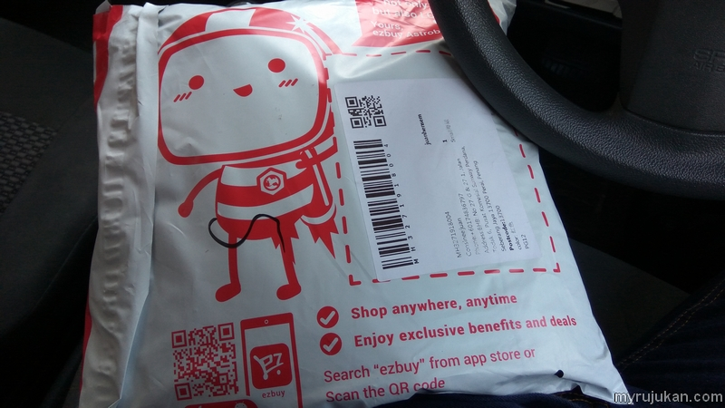 Pek bungkusan barang dari Ezbuy yang saya beli telah sampai ke Malaysia