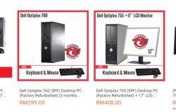 Promosi pakej komputer cpu refurbished murah di website Lazada Malaysia