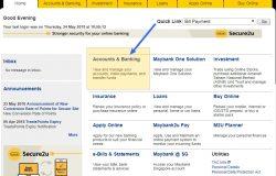 Sila klik Acounts & Banking untuk melihat akaun Maybank2u anda