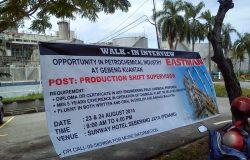 Contoh iklan walk in interview kerja di Pulau Pinang