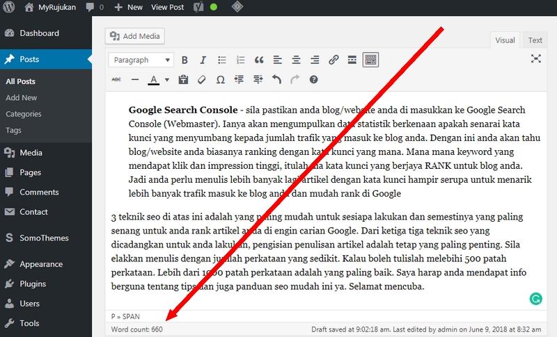 Menulis artikel berkualiti dengan jumlah perkataan yang banyak adalah lebih baik untuk ranking SEO