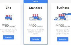 Pakej harga website eCommerce dari Easystore 2018
