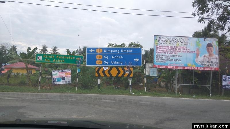 Signboard sungai acheh nibong tebal