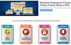Website portal suruhanjaya perkhidmatan awam SPA Malaysia