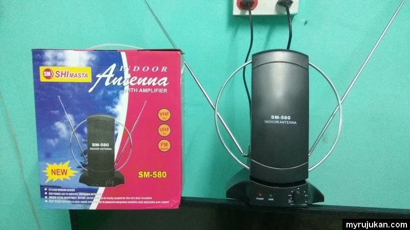 Antenna indoor yang biasa untuk tv di rumah