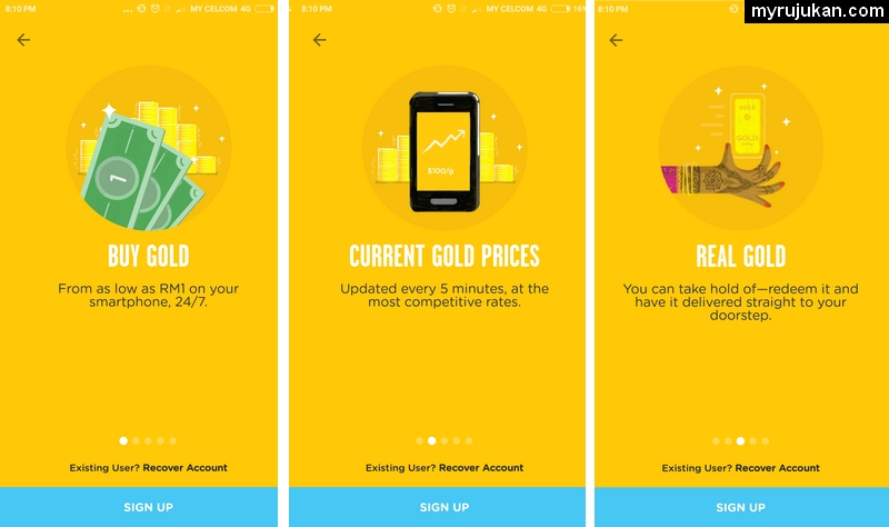 Beli emas dengan mudah melalui mobile dengan aplikasi HelloGold