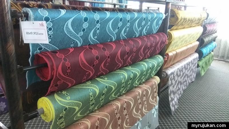 Contoh kain yang ada dijual di MK Curtain