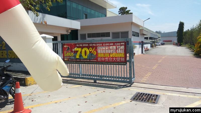 Jualan gudang direct kilang seluar jeans jenama Lois di Pulau Pinang
