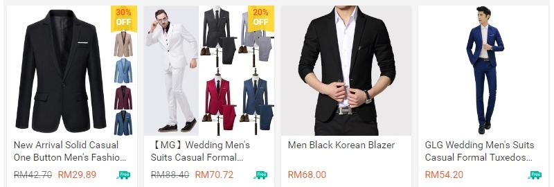 Contoh baju kot blazer murah yang ada dijual secara online