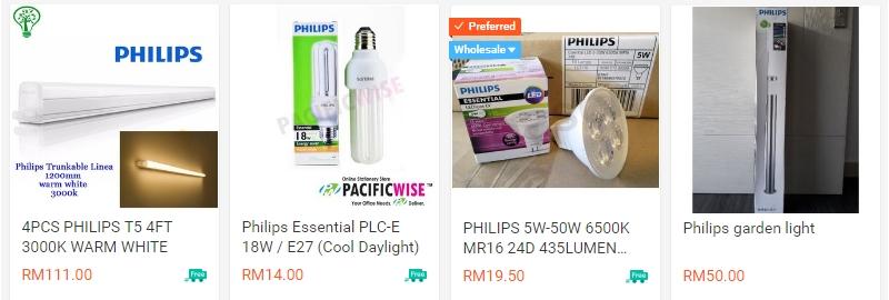 Jenis jenis lampu rumah keluaran brand jenama Philips yang berkualiti