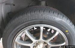 Bunga tayar kereta dari brand jenama Bridgestone yang baru