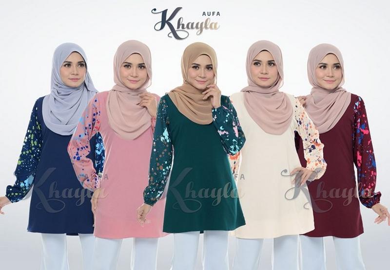 Dropship blouse baju muslimah kain lembut yang cantik