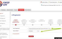 Membuat pengeluaran akaun 2 kwsp secara online untuk bayar pinjaman perumahan