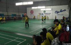 Pertandingan Badminton Di TCH Badminton Hall Penang