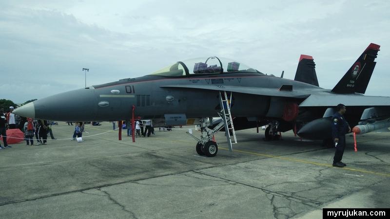 Salah satu jet pesawat yang dimiliki oleh TUDM Pulau Pinang