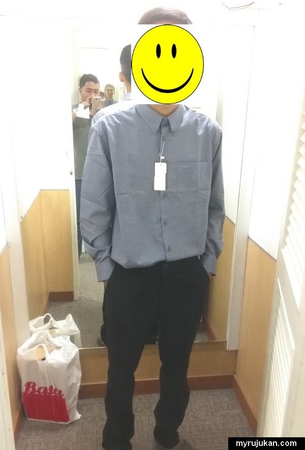 Beli set pakaian lengkap untuk menghadapi temuduga kerja