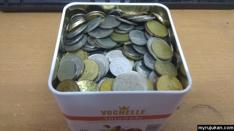 Cara saya menabung duit syiling dengan cepat