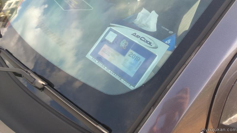 Cara tampal roadtax kereta yang tidak melekat gam