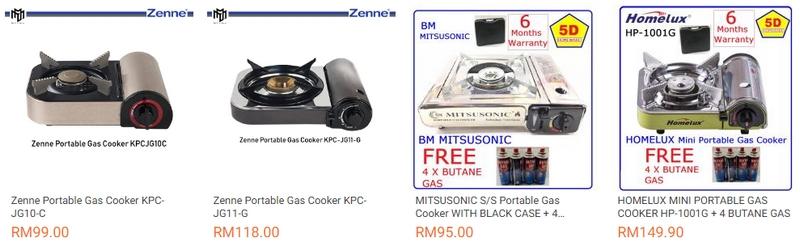 Gas memasak jenis kecil portable yang sesuai untuk steamboat & grill