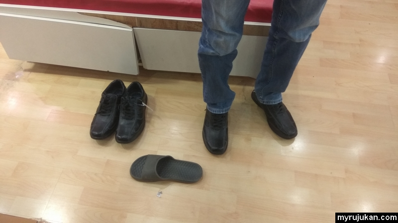 Pengalaman beli kasut hitam jenis kulit di kedai kasut bata