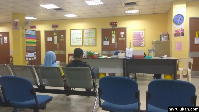 Ruangan menunggu giliran untuk rawatan pesakit luar untuk berjumpa doktor
