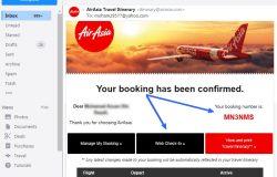 Web check in AirAsia yang anda dapat dalam email perlu anda klik dan print