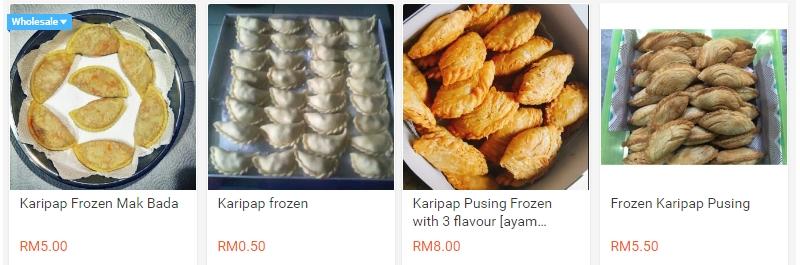 Anda boleh membeli karipap frozen secara online di Shopee