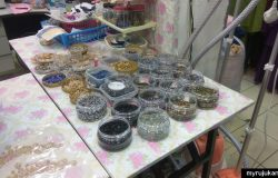Antara jenis jenis manik batu diamond swarovski untuk melekatkan manik pada tudung