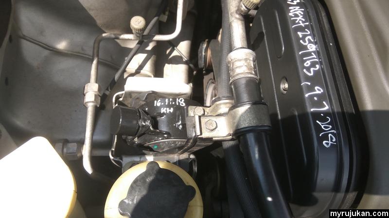 Selepas tukar engine mounting Proton Saga yang baharu