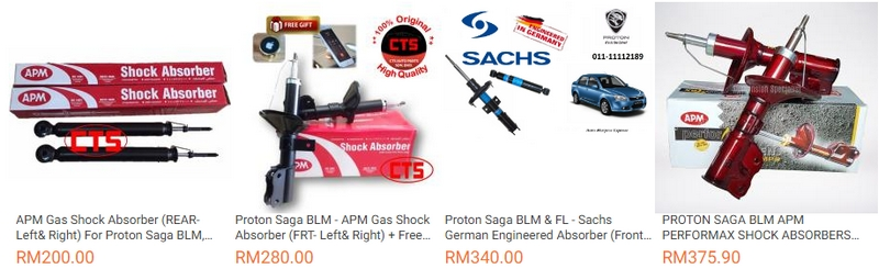 absorber proton saga blm juga ada dijual di Lazada