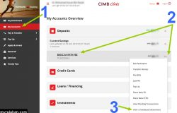 Cara download CIMB bank statement online
