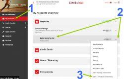 Cara download CIMB bank statement online