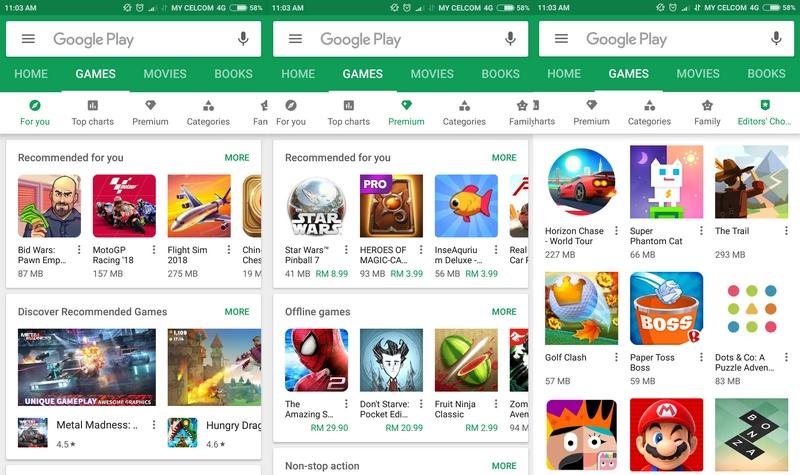 Contoh game permainan untuk pengguna smartphone android di Google Play