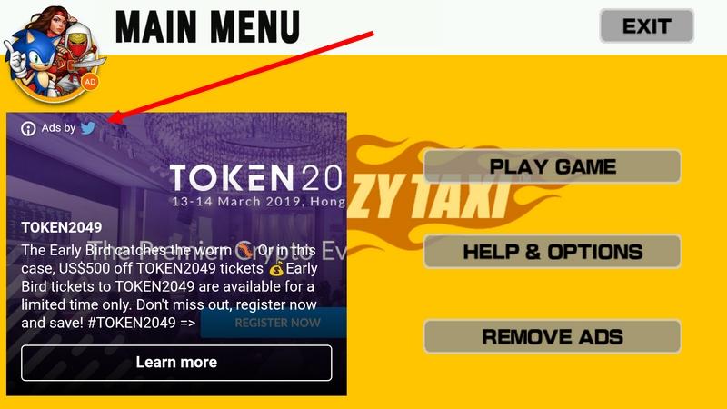 Contoh pemilik yang bina apps game Crazy Taxi yang buat duit melalui aplikasi permainan