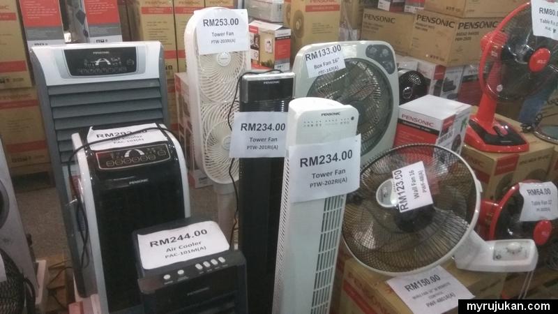 Promosi potongan harga murah kipas dan penyejuk jenama Pensonic