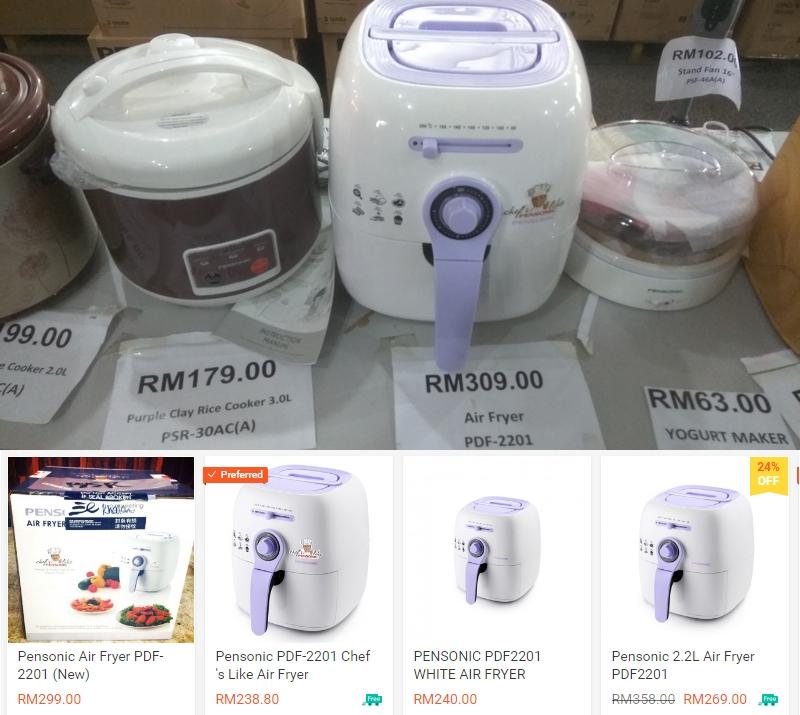 Rasanya beli Air Fryer Pensonic secara online lebih murah