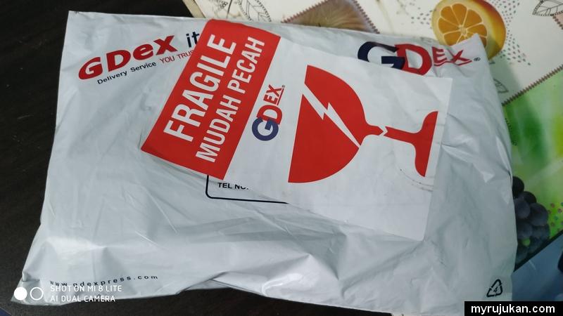 Bungkusan parcel GDEX sudah diterima