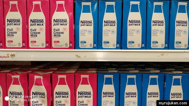 Kena pilih susu low fat berbanding full cream untuk mengurangkan berat badan